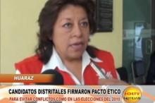 Huaraz: Candidatos Distritales firmaron Pacto Ético