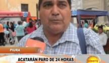 Piura: Docentes anunciaron paro en Piura de 24 horas el 28 de agosto