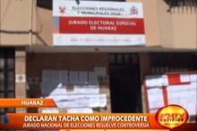 Presidente del JEE de Huaraz, informó que se resolvió tacha contra candidato regional Ricardo Narvaéz