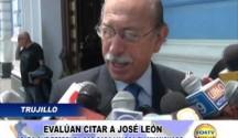 Trujillo: Evalúan citar al congresista José León Rivera