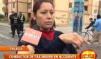 Conductor de taxi muere luego que chocara contra  banca en la berma central de la Urbanización Monserrate