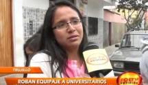 Diez estudiantes de la universidad Nacional de Trujillo denunciaron el hurto de su equipaje
