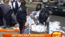 Presidente del Jurado Electoral Especial de Trujillo declaró infundada solicitud de nulidad de las Elecciones Regionales