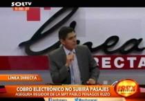 Regidor Pablo Penagos hablo sobre el Nuevo Sistema de Recaudo Electrónico