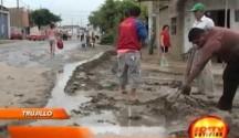 Alcantarillado colapsó en la calle Astopilco en Río Seco