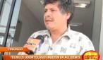 Dos técnicos odontólogos fallecieron al ser embestidos por ómnibus
