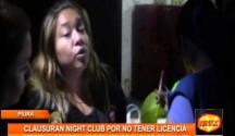 Personal de fiscalización multó y clausuró un night club