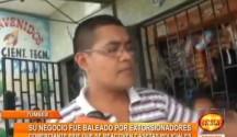 Un comerciante denuncia ser extorsionado por delincuentes