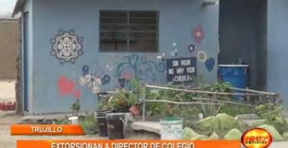 Delincuentes extorsionan a director de Colegio