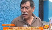 Dos taxis chocaron violentamente en el Centro de Trujillo