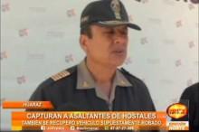 Policías capturan a sujetos que robaban en Hostales