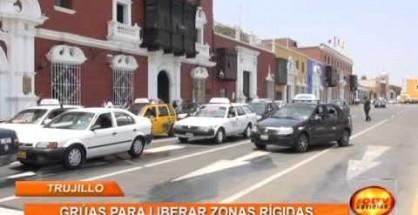 Se retomaría el uso de grúas para liberar las zonas rígidas en el centro de Trujillo