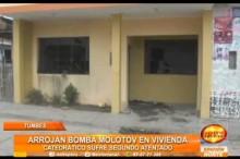 Catedrático sufrió un ataque en su vivienda con bomba molotov