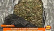 La Policía decomisó 25 Kilogramos de Marihuana