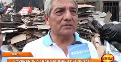 Trabajadores del SEGAT fueron sorprendidos vendiendo Materiales Reciclables