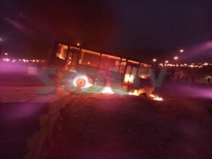 Incendian microbús esta madrugada en La Esperanza