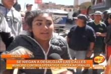 Huaraz: Continúan operativos contra comerciantes informales