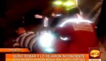 Trujillo: Delincuente quiso robar y lo dejaron inconsciente