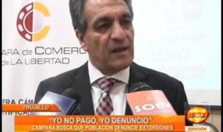 """Trujillo: """"Yo no pago, yo denuncio"""""""