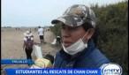 Trujillo: Estudiantes realizan campaña de limpieza en Chan Chan