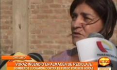 Chiclayo: tardan seis horas en apagar incendio en almacén de reciclaje