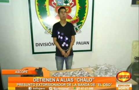 """Trujillo: detienen  a presunto integrante de la banda criminal """"El oso"""" en Ascope"""