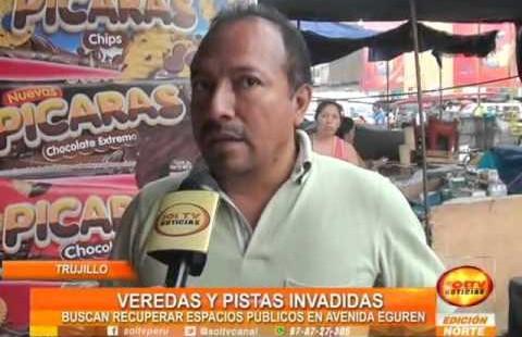 Trujillo: Municipalidad busca recuperar pistas y veredas en la Av. Eguren
