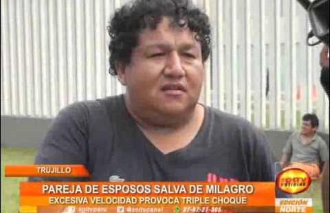 Trujillo: Pareja de esposo salva de morir