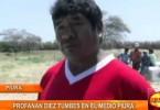 Piura: sujetos desconocidos profanan 10 tumbas