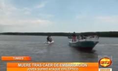 Tumbes: Joven se ahoga luego de sufrir ataque de epilepsia en un bote